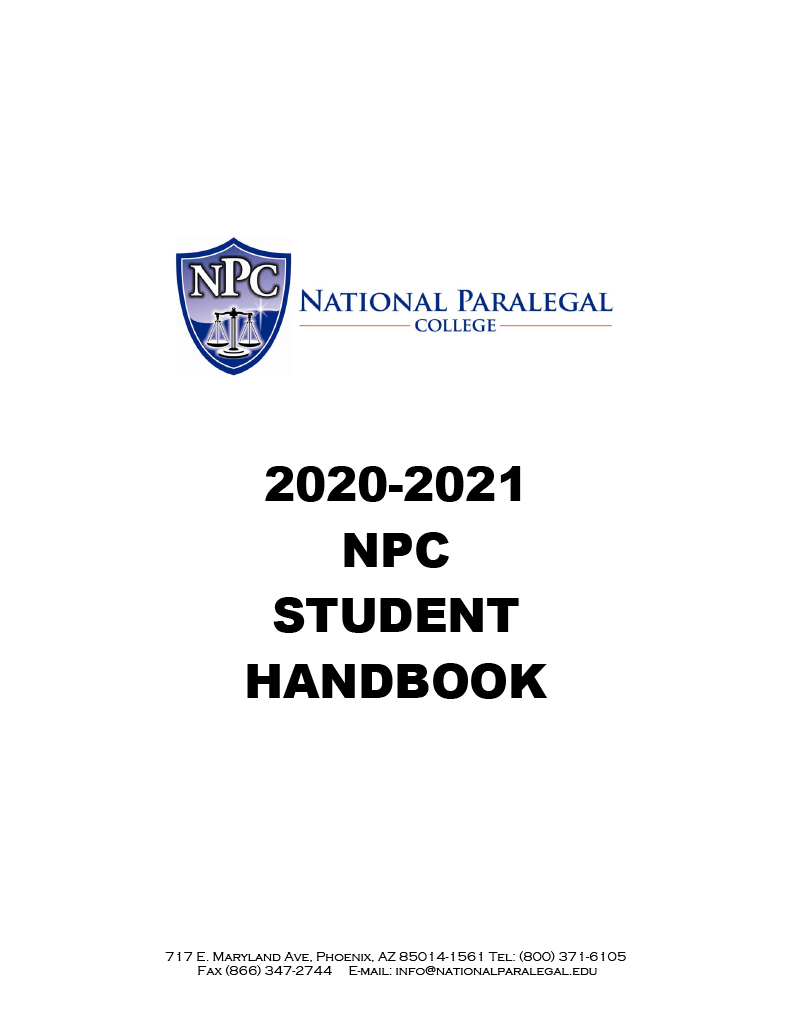 National Paralegal College Student Handbook